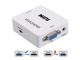 VGA to HDMI Converter Adapter With Audio - White