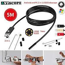 Android Endoscope USB Waterproof Spy Camera -Black