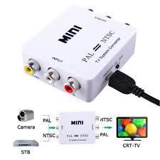 NTSC TO PAL TO NTSC Converter Bi-directional TV Format System- White