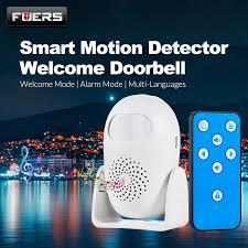 Doorbell home security PIR motion detection welcome ringer doorbell anti-theft remote control flashy lamp