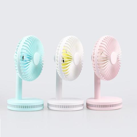 Modern fan night lamp handheld charging desk small fan mini portable USB Fan-White