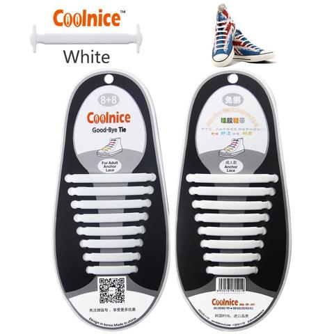 No Tie Coolnice Fashion Silicon Fashion Shoe Laces Summer Color Easy Shoelaces