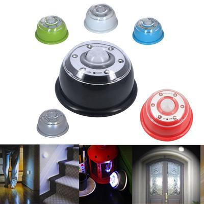 6 LED Wireless LED Infrared PIR Auto Sensor Motion Detector Battery System-Silver