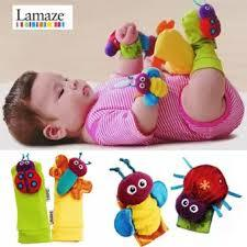 New Hot Toy Baby rattles toy Rattle Foot Socks Garden Bug Wrist