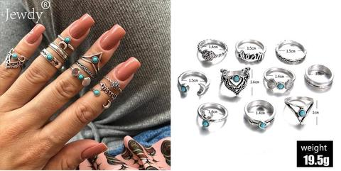 Jewelry Silver Ring set