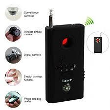 Hidden camera wireless signal and GSM device detector-Black
