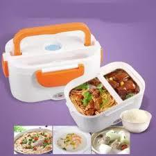 Food warm electric lunch warmer heater with compartment-Green