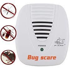 Electronic Ultrasonic Mouse Mosquito Rat Pest Control Repeller Bug Scare Machine-White