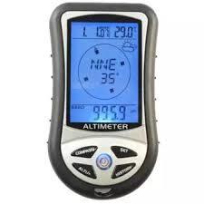 Electronic Bearing Sensor Barometric Sensor 8 in 1 Digital LCD Compass Altimeter Barometer Temperature Calendars Clock-Black