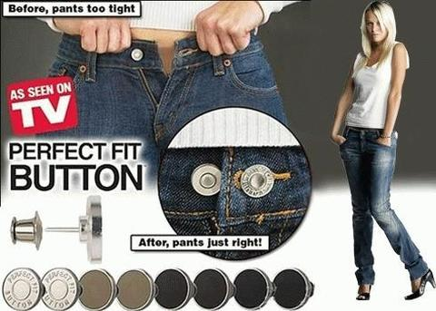 Pants fit perfectly Pack of 8 Pieces Perfect Fits Button-Multi color