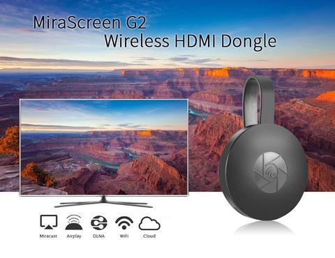 MiraScreen G2 Miracast 1080P WiFi Display HDMI TV Media Dongle Wireless Receiver-Black