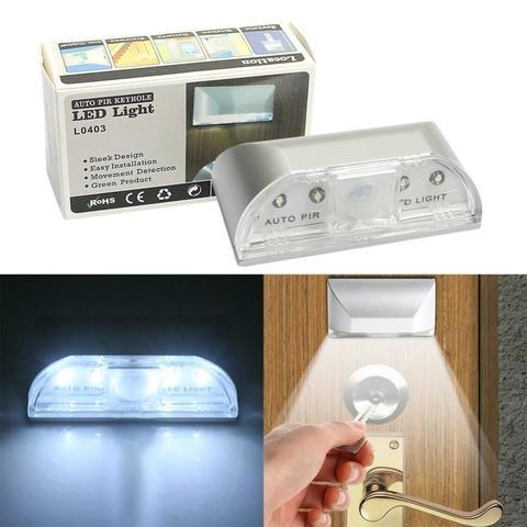 PIR Infrared Wireless Motion Sensor 4 LED Light Spotlight Outdoor Lamp-White