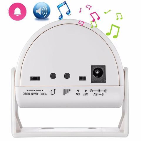 Welcome PIR Motion Alarm PIR Sensor for Store Security Record Door Bells-White