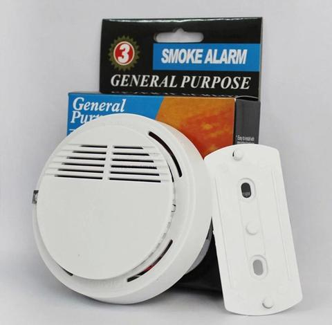 Independent smoke detector alarm sensor fire alarm for home security -White