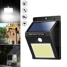 Solar Motion Sensor LED Outdoor Light -Black