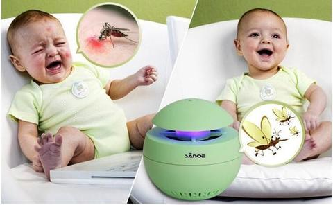 3 In 1 USB Aroma Led Mosquito Killer Lamp Mosquito Zapper With Night Lamp & Aroma Diffuser-White