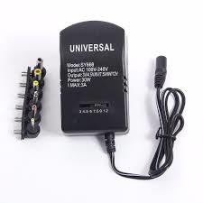 30W Universal AC Wall EU Plug In Power Adapter 3v 4.5v 5v 6v 7.5v 9v 12v 2.5A Charger With 6pcs Tip-Black