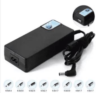 Universal laptop adapter power mobile charger USB 5V 1A 12-24V for Sony/Fujitsu 16V Toshiba 15v 5a 19v 4.74a-Black