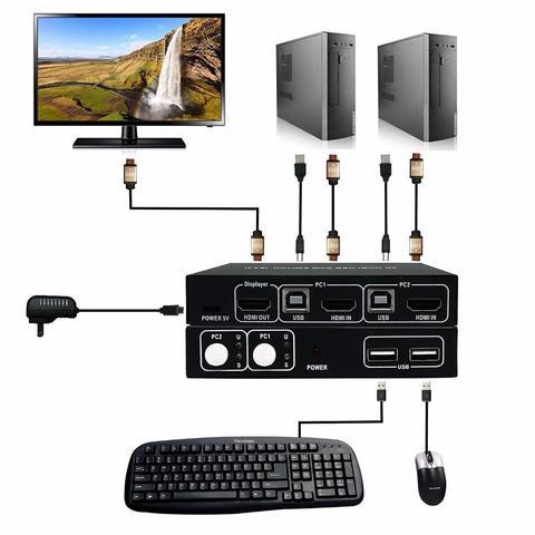 2 Port HDMI KVM Switch-Black