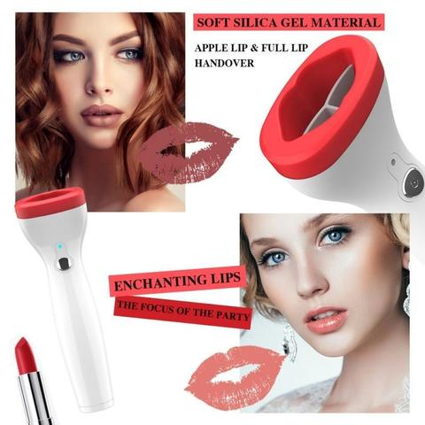 Automatic Lip Plumper Electric Plumping Device Beauty Tool - WHITE