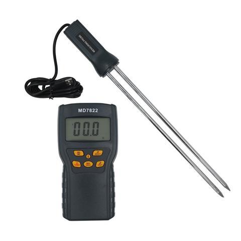 Digital Grain Moisture Tester Split Measuring Probe Moisture Meter MD7822-Black