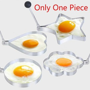 4 Piece Stainless Steel Fried Egg Mold Pancake Mold Cozinha Kitchen Tool Pancake Rings Egg Cooking-Silver