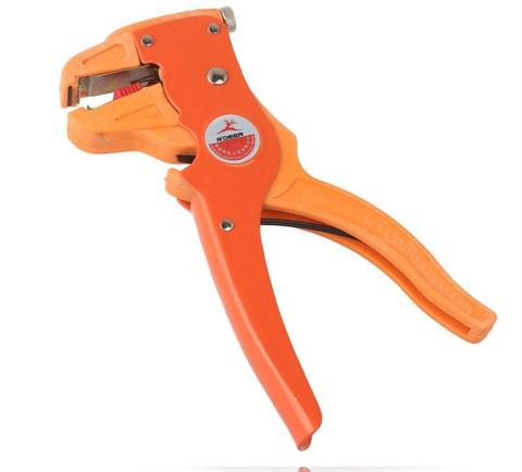 2 In 1 Multifunction Stripper Cutting Hand Tools Electrician Tools Flat-head Wire Stripper Pliers Stripping Cutting-Red