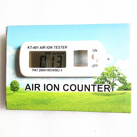 KT-401 AIR Aeroanion Tester ion meter aeroanion detector Negative oxygen ions anion concentration detecto Auto Air Purifier-White