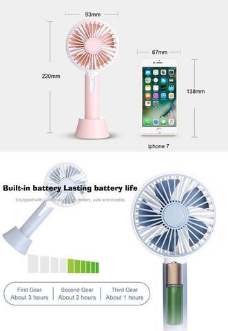 Aroma fan Light diffuse hand fan-White