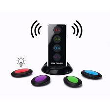 4 in 1 Advanced Wireless Key Finder Remote Key Locator Anti-Lost with Torch function-Black