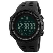 Men Smart Chrono Calories Pedometer Sports Digital Wrist Watches - BLACK