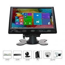 10.1 Inch TFT LCD Color Ultra thin Tuch 2 Video Input PC Audio Video Display VGA HDMI AV Input Security Monitor-Black