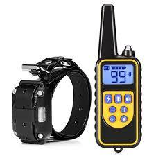 800m Waterproof Rechargeable Remote Control Dog Electric Training Collar - BLACK