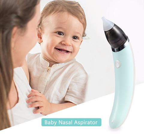 Baby vacuum cleaner Nasal electric nose cleaner Sniffling equipment for children-Green