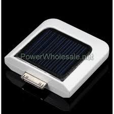 800mAh Portable Solar Mobile Power Station for iPhone/iPod -White