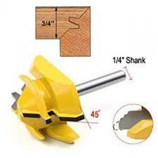 Bit Raised Panel Door Cabinet Router Bit Bevel Set 1/4*1-3/8 Inch Shank For Wood Drilling Power Tools Wood Cutting-Yellow