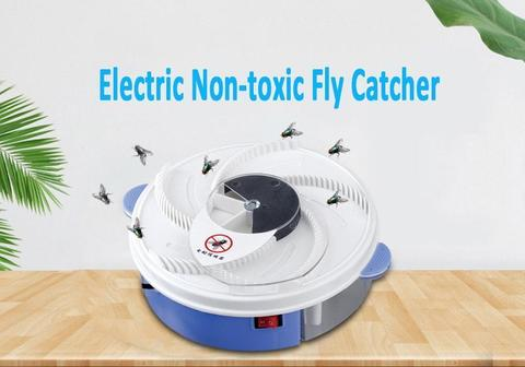 Electric Fly Trap Pest Insect Catcher Device Automatic Flycatcher Fly Trap-White