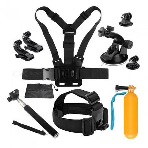 10 in 1 low price Fixed For Gopro Go Pro Accessories Hero4 / 3 + / 3/2 and Camera SJ4000 SJ5000 SJ6000 and for Xiaomi-Black