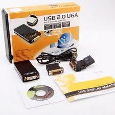 Multi-Display USB 2.0 to DVI/VGA/HDMI Adapter-Black