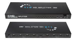 1 Input 8 Output HDMI Switch Splitter-Black