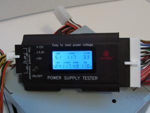 Power Supply Tester with LCD-Black