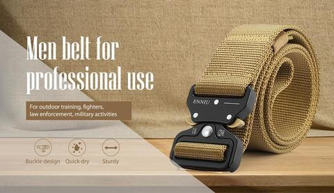 ENNIU Men Belt Strap Buckle Design -Golden