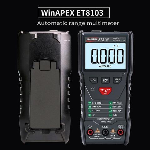 ET8103 Full Intelligent Digital Multimeter - Black 4