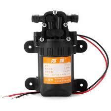DC 12v 70PSI 3.5L / min Agricultural Electric Water Pump Black Micro Diaphragm High Pressure Car Wash Water Sprayer 12v-Black