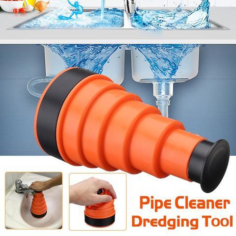 Hydraulic Pressure Air Cannon Clog Powerful Pressure Manual Sink Plunger Cleaner Air Power Drain Cleaner-Orange