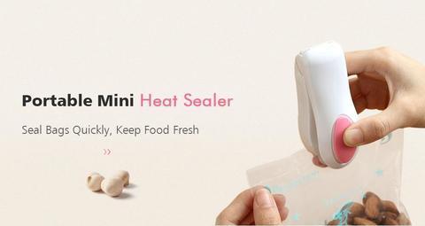 Mini Heat Sealer Seal Packing - Pink