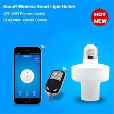 Sonoff Slampher RF 433 Wireless Control Light Holder E27 WiFi Light Bulbs Holder for Smart Home-White