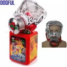 Smoke Mask Smoke Masks Fire Evacuation Mask Emergency Hood Gas Oxygen Respirators 30 Minutes-Silver