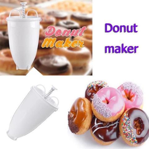 Donut Dough Doughnut Maker Machine Utensil Iced Cinnamon Plastic Doughnuts White