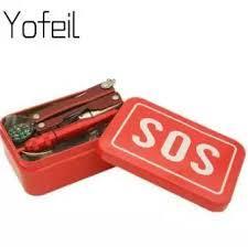 Emergency bag rescue kit self-help box SOS camping equipment hiking tools-Red